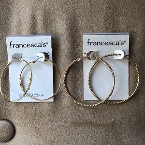 🆕 Francesca's Gold Hoops